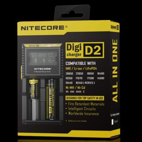Opladere Nitecore D2 Digital Oplader eclshop.dk