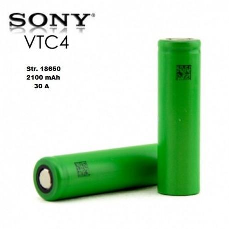 Batterier Sony Konion 18650 VTC4 3.7V 2100mAh 15C 30A eclshop.dk