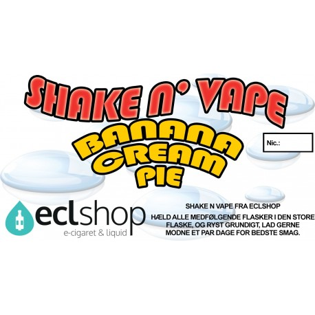 E-væske Banana Cream Pie - Shake n' Vape eclshop.dk