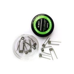 LANTAIQI Premade Juggernaut Wire (32GA+38GA)*2, 0.35 oHm 10 stk.