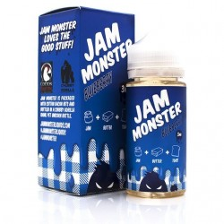 USA Premium Juice Blueberry BY JAM MONSTER 100ml./0mg. eclshop.dk