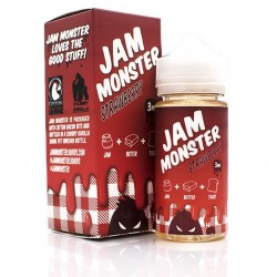 USA Premium Juice Strawberry BY JAM MONSTER 100ml./0mg. eclshop.dk