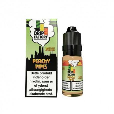E-væske Peachy Pipes - The Drip Factory - 10ml. eclshop.dk