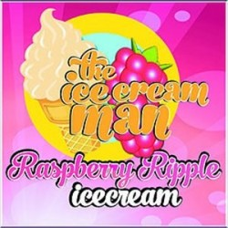 AROMA Raspberry Ripple Ice Cream - Ice Cream Man Aroma - 10ml. eclshop.dk