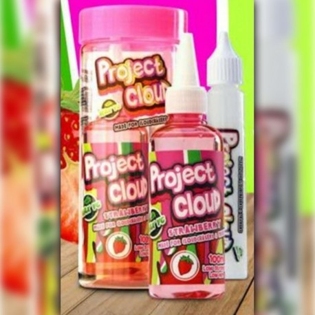 Mad Hatter & Project Cloud Strawberry (Pink) by Project Cloud - 100ml./0mg. eclshop.dk