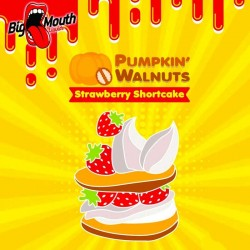 Udsalg Pumpkin Walnuts - Strawberry Shortcake - Big Mouth 60ml. eclshop.dk