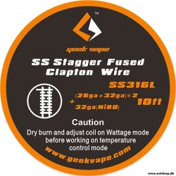 GeekVape SS Stagger Fused Clapton Wire