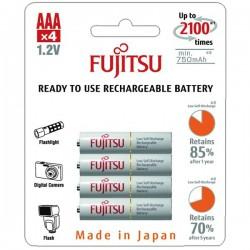 Batterier Fujitsu genopladelige AAA batterier, 750mAH 4 STK eclshop.dk
