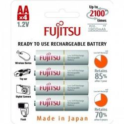 Batterier Fujitsu genopladelige AA batterier, 1900mAH 4 STK eclshop.dk