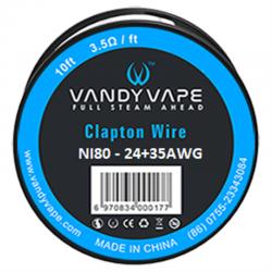 Tilbehør & DiY Vandy Vape Clapton Wire Ni80 eclshop.dk