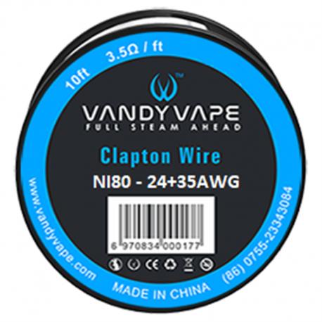 DIY - Tråd, Vat & Værktøj Vandy Vape Clapton Wire Ni80 eclshop.dk