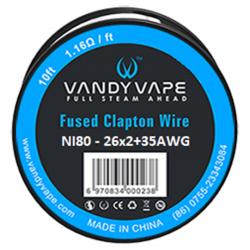 Tilbehør & DiY Vandy Vape Fused Clapton Wire Ni80 eclshop.dk