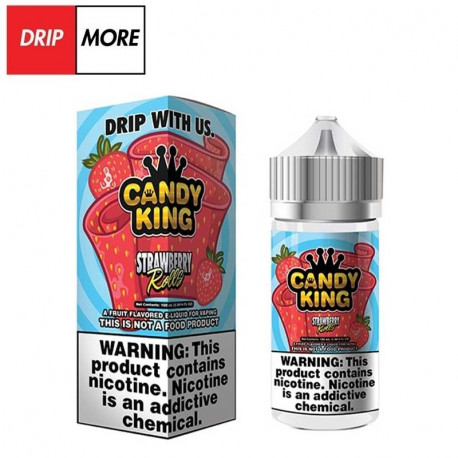 Flawless & Drip More CANDY K'NG –STRAWBERRY ROLLS 120ml. - Drip More eclshop.dk