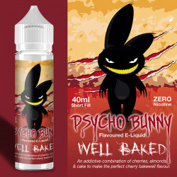 E-væske Flapour, Psycho Bunny Well Baked VG80/PG20 - 60ml eclshop.dk