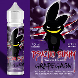 E-væske Flapour, Psycho Bunny Grapegasm VG80/PG20 - 60ml eclshop.dk