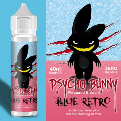 E-væske Flapour, Psycho Bunny Blue Retro VG70/PG30 - 60ml eclshop.dk