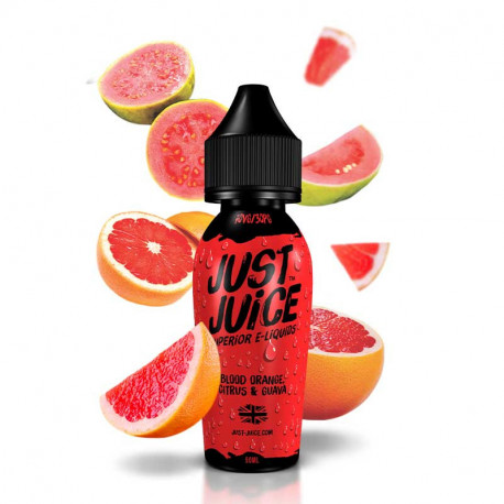 E-væske Just Juice Blood Orange, Citrus and Guava - 60ml eclshop.dk